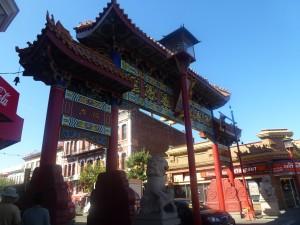 Das Tor, das nach Chinatown in Viktoria führt