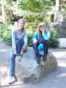 Das sind meine Gestschwester Megan und ich.
