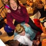 Elises Cousins, darüber Elise, dann Erin, dann Bayley, Nina & ich im Hintergrund