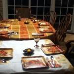 Elise, Nina, ihre kleine Cousine Bayley und ich haben aber an der Theke (oder wie man das nennt) gegessen :D