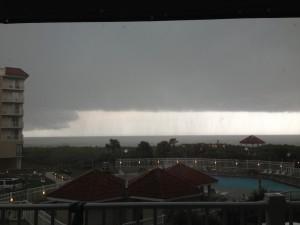 topsail bei schlechtem Wetter