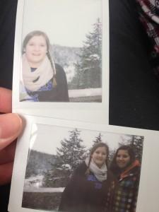 mit meiner Polaroid camera :)